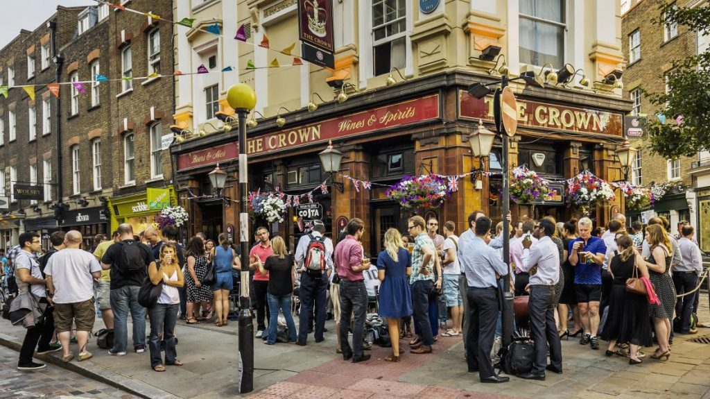 Busy pub as rules change